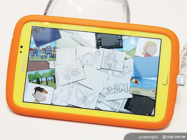 兒童平板電腦內置繪圖圖片