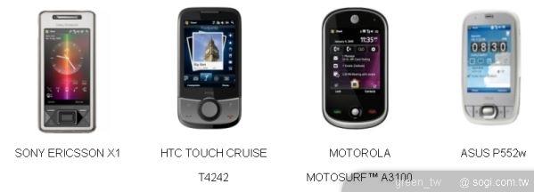 四款最夯Windows Mobile手機搭配台灣大哥大資費方案