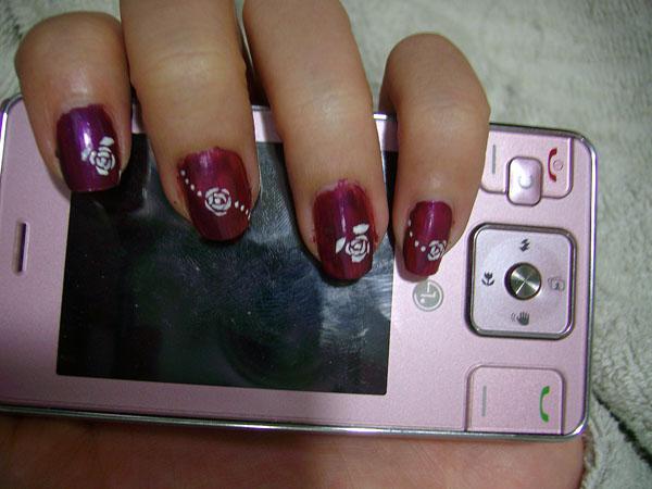 指甲彩绘玫瑰花内容|指甲彩绘玫瑰花图片