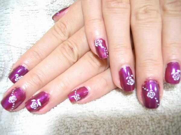 指甲彩绘-玫瑰花