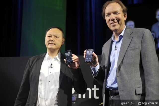HTC EVO 4G-Peter Chou (CEO of HTC) & Dan Hesse (CEO of Sprint)