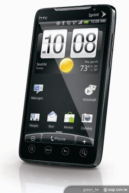 Sprint將於今夏獨家推出全球第一款3G/4G 搭載Android平台手機-HTC EVO 4G。