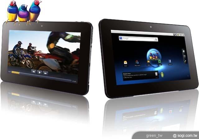 全台第一台搭載超強 Tegra 2 雙核心 1GHz 行動娛樂智慧平板