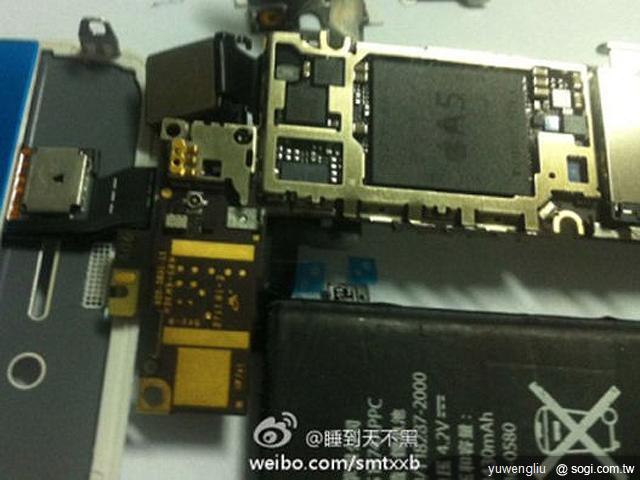 苹果iphone 5拆解图流出; 双核a5芯片 苹果iphone 5拆解;   苹果
